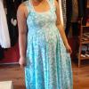Emily | Custom pregnancy Maxi dress designed and made with the customers own fabric provided