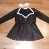 Tony | custom French Maid outfit in stretch leather and lace edges